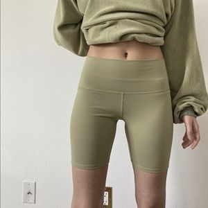 Green Biker Shorts